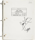 Explorers:Space Exploration, Apollo 13 Flown CSM Lunar Landmark Maps Book Signed by and from thePersonal Collection of Mission Commander James Lovell....