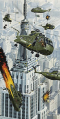 Pulp, Pulp-like, Digests, and Paperback Art, MORT KÜNSTLER (American b. 1931). The Day They Captured theEmpire State Building, For Men Only cover, August, 1970. Gou...