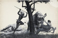 Pulp, Pulp-like, Digests, and Paperback Art, MORT KÜNSTLER (American b. 1931). Zulu Rescue From the Rhinos,My Forty Years In a Jungle World, Hunting Adventures story ...