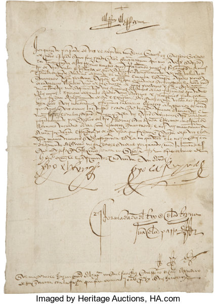 Christopher Columbus Letter To King Ferdinand.King Ferdinand Ii And Queen Isabella I 1492 Document Signed