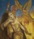 Pulp, Pulp-like, Digests, and Paperback Art, MARGARET BRUNDAGE (American 1900 - 1976). The Altar of Melek,Weird Tales cover, September 1932. Pastel on paper. 20 x 1...