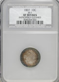 Early Dimes, 1807 10C --Improperly Cleaned--NCS. XF Details....