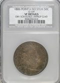 Early Half Dollars, 1806 50C Pointed 6, No Stem--Improperly Cleaned, ObverseScratched--VF20 NCS. VF Details. PCGS Popul...