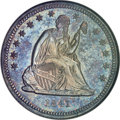 Proof Seated Quarters, 1841 25C PR66 NGC....