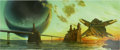 Paintings, PAUL YOULL (English b. 1965). Excession, paperback cover, 1996. Oil on board. 16 x 38 in.. Signed lower right. ...