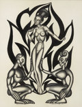 Mainstream Illustration, HANNES BOK (American 1914 - 1964). Mambaloa, 1947. Ink onpaper. 13.5 x 10.5 in.. Signed lower right. ...