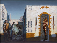 GERALD BROM (American b.1965) The Amber Enchantress, 1992 Acrylic on canvas 30 x 40 in. Signed