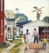 JOHN PHILIP FALTER (American 1910 - 1982) Young Astronaut, Saturday Evening Post cover, June 20, 1953