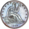 Patterns, 1838 P50C Seated Liberty Half Dollar, Judd-78 Restrike, Pollock-84,High R.7, PR65 Brown PCGS....