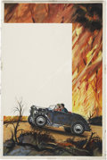 Original Comic Art:Covers, Harry Barton Hot Rod Fury Cover Illustration (circa1950)....