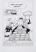 Original Comic Art:Covers, George Wildman Popeye the Sailor #102 Cover Re-CreationOriginal Art (2008)....