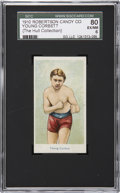 Boxing Cards:General, 1910 V153 Robertson Candy Young Corbett SGC 80 EX/NM 6....