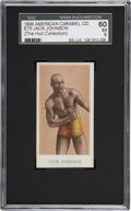 Boxing Cards:General, 1909 E75 American Caramel Jack Johnson SGC 60 EX 5....
