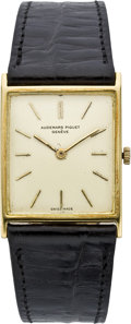 Timepieces:Wristwatch, Audemars Piguet Men's Ultra Thin Gold Wristwatch, circa 1970. ...