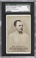 Boxing Cards:General, 1887 N269 Lorillard's #4 Wm. Sheriff SGC 40 VG 3 (Hull Collection). . ...