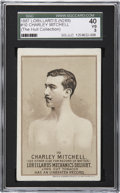 Boxing Cards:General, 1887 N269 Lorillard's #10 Charley Mitchell SGC 40 VG 3. ...