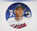Baseball Collectibles:Others, Circa 1990 Harmon Killebrew Painting by Christopher Paluso, Signed....