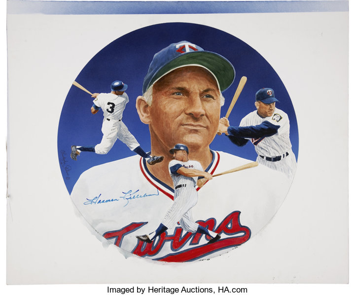 Circa 1990 Harmon Killebrew Painting by Christopher Paluso
