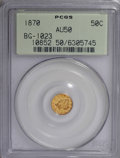 California Fractional Gold: , 1870 50C Liberty Round 50 Cents, BG-1023, Low R.7, AU50 PCGS. PCGSPopulation (1/6). NGC Census: (0/1). (#10852). From ...