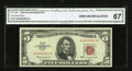 Small Size:Legal Tender Notes, Fr. 1536 $5 1963 Legal Tender Note. CGA Gem Uncirculated 67.. ...