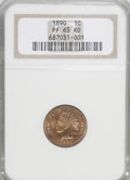 Proof Indian Cents, 1890 1C PR65 Red NGC....