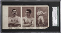 Boxing Cards:General, Extremely Rare 1890 N310 Mayo Sullivan/Corbett/Mitchell Uncut PanelSGC Authentic....