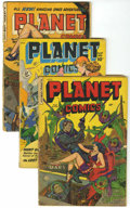 Golden Age (1938-1955):Science Fiction, Planet Comics #57, 69, and 72 Group (Fiction House, 1948-53)....(Total: 3 Comic Books)