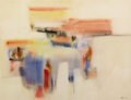 Fine Art - Painting, American:Contemporary   (1950 to present)  , MICHAEL LOEW (American, 1907-2007). Floating Image,Monhegan, 1956. Watercolor on paper. 21 x 27-1/2 inches (53.3 x69.9...