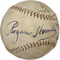 Autographs:Baseballs, 1932 Chicago Cubs Stars Signed Baseball with Tris Speaker....
