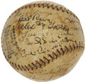 Autographs:Baseballs, 1921 New York Giants Team Signed Baseball....