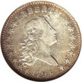 Early Half Dollars, 1794 50C --Cleaned--ANACS. VF Details, Net Fine 15....