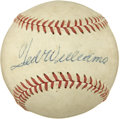 Autographs:Baseballs, 1958 Ted Williams Single Signed Baseball....