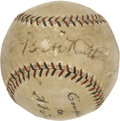 Autographs:Baseballs, Circa 1926 Babe Ruth & Billy Southworth Signed Baseball....