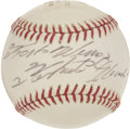 Autographs:Baseballs, 1972 Roberto Clemente Single Signed Baseball Commemorating 3,000thHit....