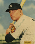 Autographs:Others, Early 1950's Mickey Mantle Signed Magazine Photograph....