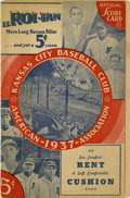Autographs:Others, 1937 Hilton Smith Signed Kansas City Monarchs Program....