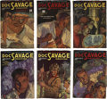 Books:Periodicals, Doc Savage (Street & Smith, 1934) Group of Six....(Total: 6 Items)