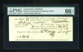 Colonial Notes:Connecticut, Connecticut October 14, 1790 £1 10s PMG Gem Uncirculated 66 EPQ....