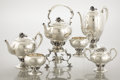 Silver Holloware, American:Tea Sets, AN AMERICAN SILVER SIX-PIECE TEA AND COFFEE SET. Redlich & Co.,New York, New York, circa 1935. Marks: (sea serpent with anc...(Total: 6 Items)