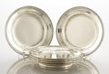 Silver Holloware, American:Plates, A SET OF SIX AMERICAN SILVER PLATES. Tiffany & Co., New York,New York, circa 1886. Marks: TIFFANY & CO., 9250 MAKERS4120... (Total: 6 Items)