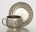 Silver Holloware, American:Cups, AN AMERICAN SILVER CUP AND SAUCER. Tiffany & Co., New York, NewYork, circa 1870. Marks: TIFFANY & CO., 2942 M 1756,STERL... (Total: 2 Items)