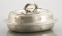 AN AMERICAN SILVER COVERED SERVING DISH Tiffany & Co., New York, New York, circa 1879 Marks: TIFFANY & CO