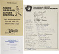 Autographs:Others, 1981 Third Annual Negro League Reunion Signed Page....