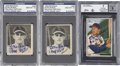 Autographs:Others, 1940's-50's Stan Musial Trading Cards, Signed....