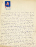Autographs:Others, Early 1970's Satchel Paige Handwritten Page & Signed Photograph....
