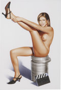 Pin-up and Glamour Art, HUBERT DE LARTIGUE (French b.1963). Jennifer Aniston (firstversion), 1998. Watercolor on paper. 16.75 x 11 in.. Not sig...