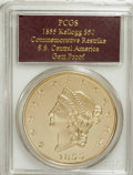 """S.S.C.A. Relic Gold Medals, 1855 $50 SSCA Relic Gold Medal """"1855 Kellogg & Co. Fifty"""" GemProof PR65 PCGS...."""
