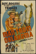 "Movie Posters:Western, Man from Oklahoma (Republic, 1945). One Sheet (27"" X 41""). Western...."