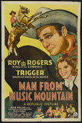 """Movie Posters:Western, Man From Music Mountain (Republic, 1943). One Sheet (27"""" X 41""""). Western...."""