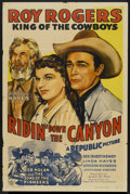 "Movie Posters:Western, Ridin' Down the Canyon (Republic, 1942). One Sheet (27"" X 41""). Western...."